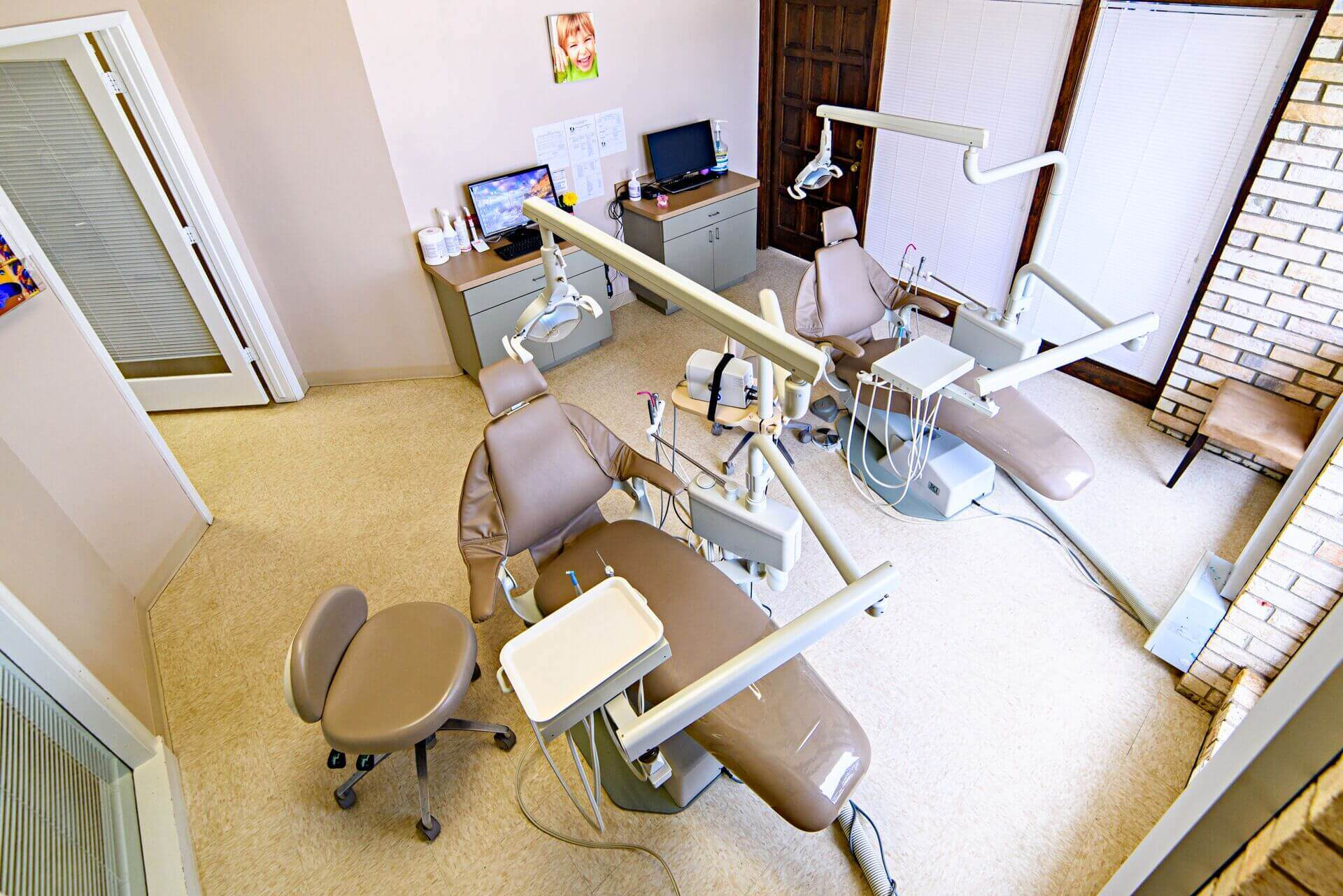 LOL Dental & Orthodontics Office patient treatment area view